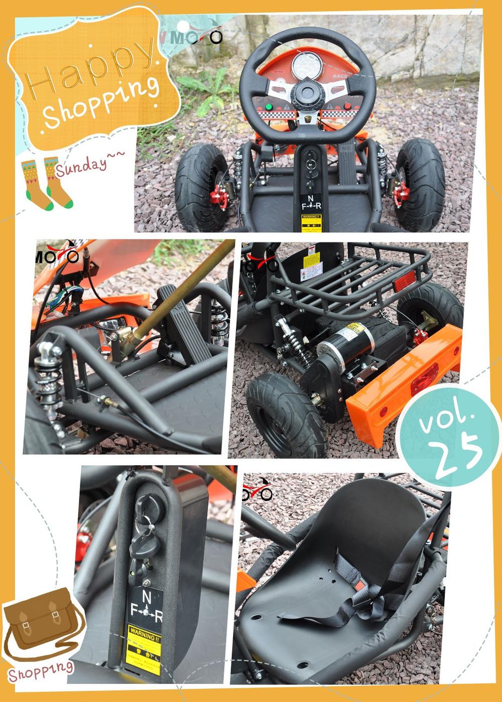 QWMOTO China Factory cheap buggy 500W Electric go kart MINI buggy ...