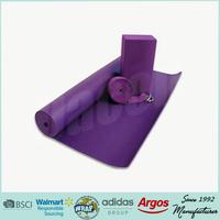 eva yoga block and pvc yoga mat and yoga set