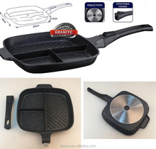 NEW Breakfast Frying Pan Popular Divided 3 In 1 Grill Pan With Multi Section