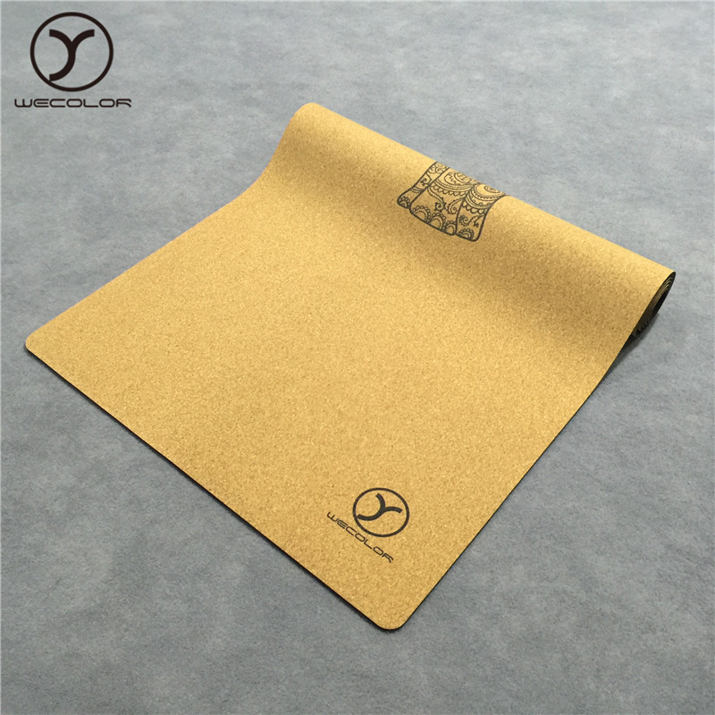 Wholesale custom logo printed natural rubber eco friendly cork yoga mat and cork yoga block
