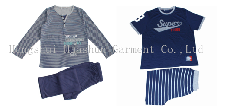 Summer short sleeve nightwear sleep pajamas pyjamas two piece set