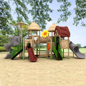 Children Park Play Plastic Slide Swing Outdoor Playground for Physical Fitness