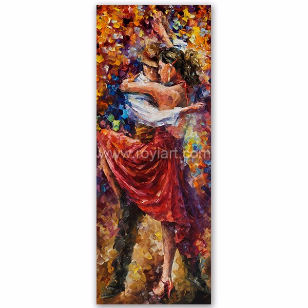 Modern wall hanging painting spanish flamenco dancers oil painting