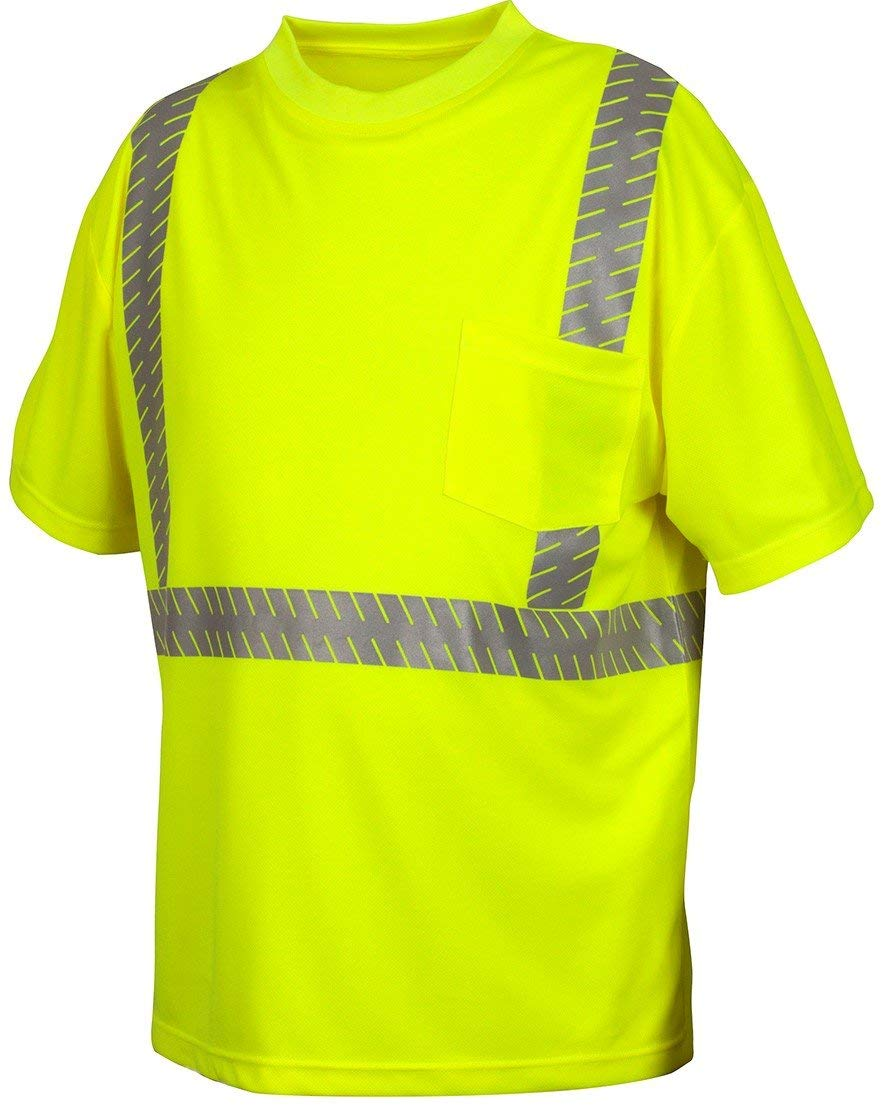 4b95703a6e1f Get Quotations · Pyramex Safety RTS2310M Hi-Vis SAFETY Shirt with Moisture  Wicking Mesh