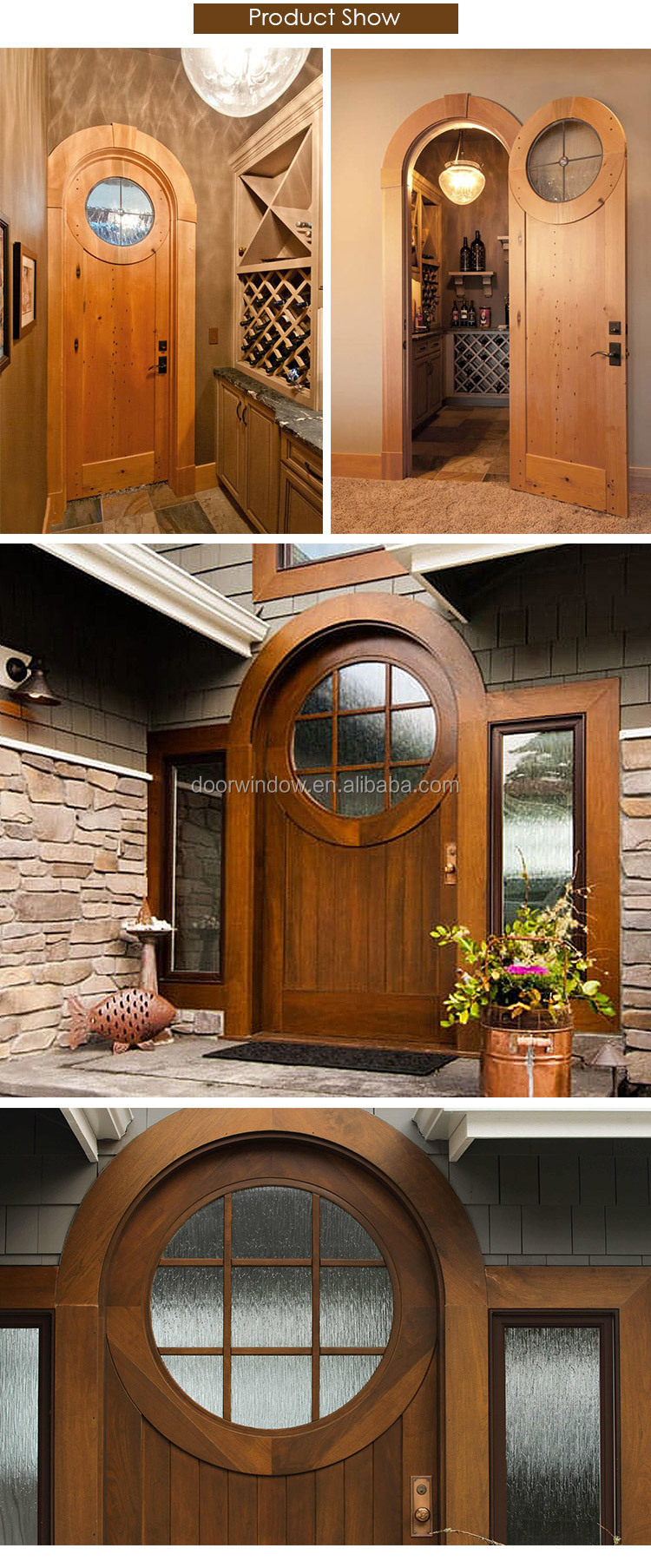 Doorwin door grill design arched top wooden decoration interior door for villa