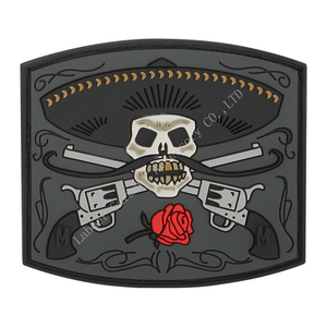 Solemn skull Custom 3D Embossed Reflective PVC Rubber Patch for Shoes Label, Garment Badge,Caps Fittings