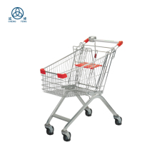 Customizable metal folding shopping cart and trolley cart with shopping