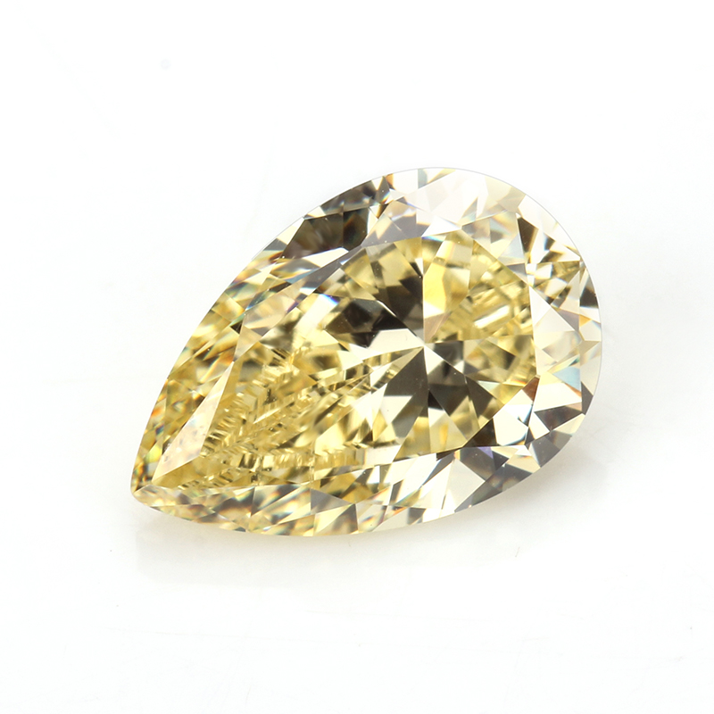 Synthetic Yellow CZ Diamond 6x9mm <strong>Pear</strong> Cut Loose Stone Cubic <strong>Zirconia</strong> For CZ Ring