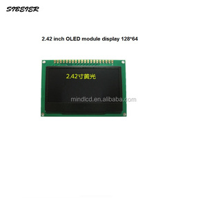 2.42 inch oled screen display 128*64 oled display 4 wires SPI interface