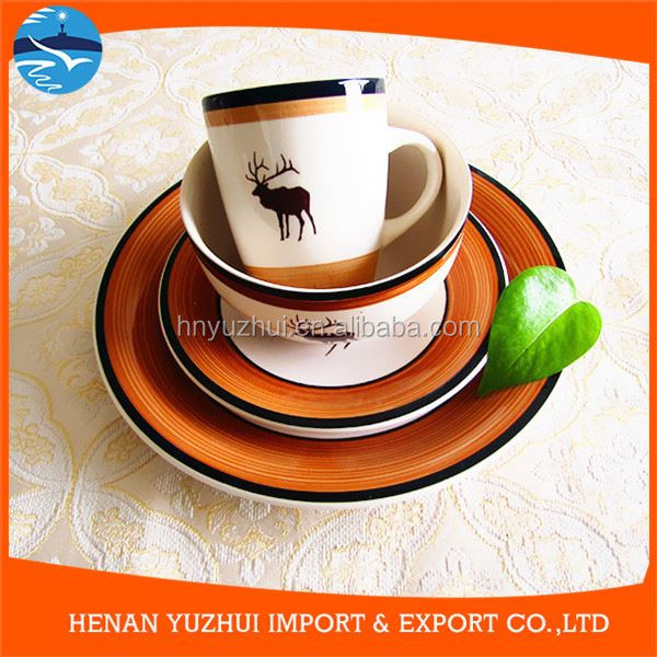 Hot sell hand painted festival ceramic tableware for christmas