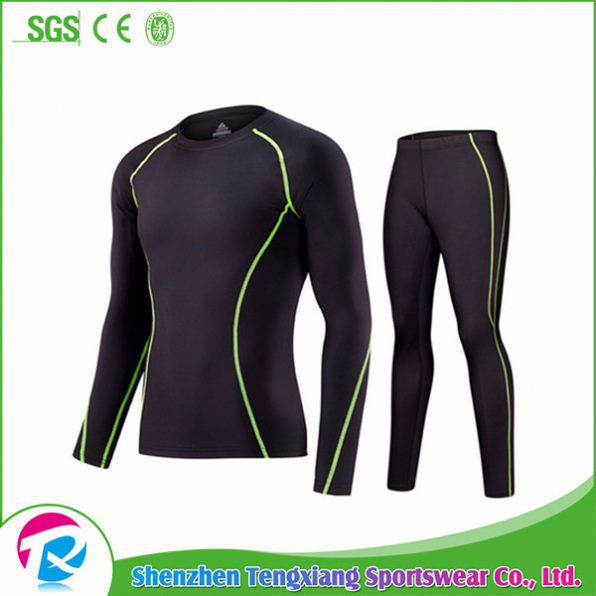 2017 Blank Color Wholesale Youth Custom Fitness Compression Shirts For Man