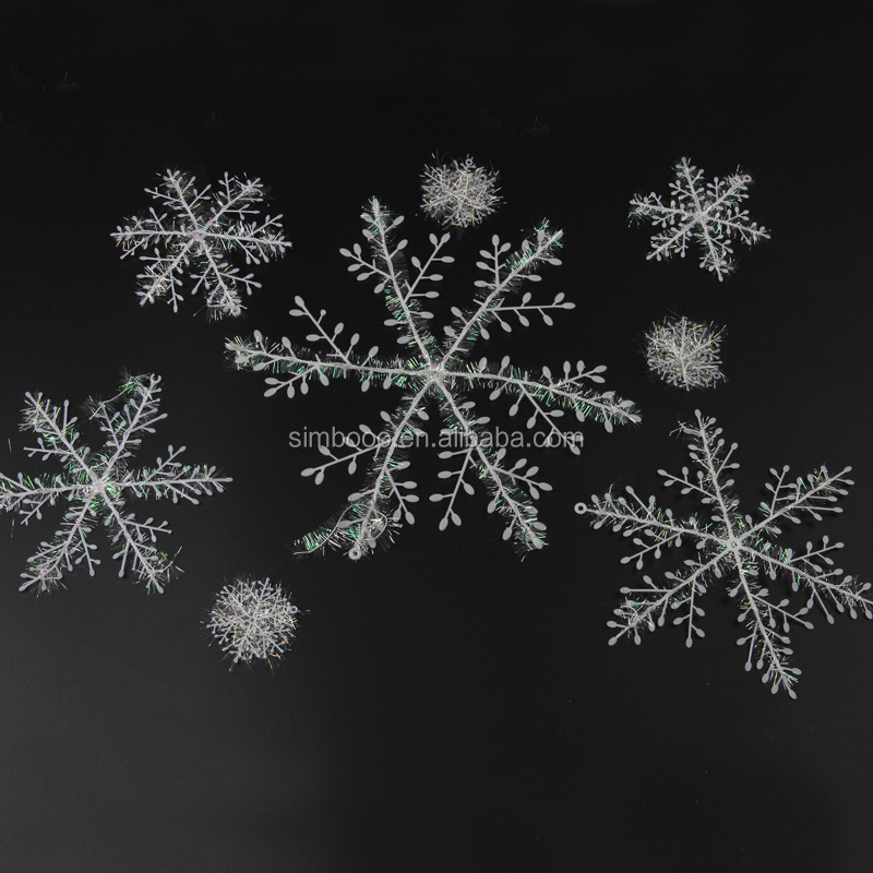 2017 romantic winter Christmas decoration store window dressing snowflake