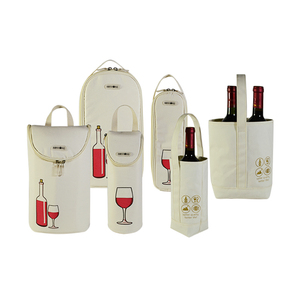 Professional custom Jute Felt Canvas Cotton Paper Non woven Wine Bag wine cooler bottle bag
