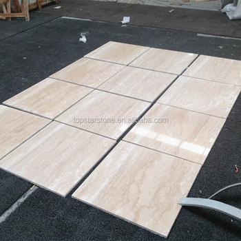 Iran Imported Polished Vein Cut Super White Travertine Floor Tile