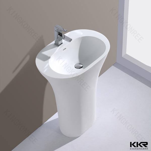 Western Style Pedestal Sink Round Pedestal Sink