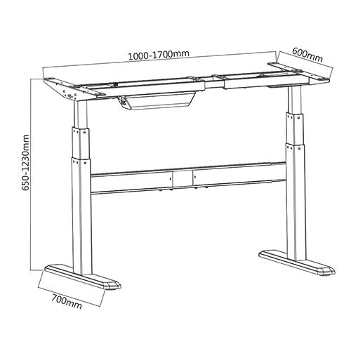 Inteligentes certificado regulable en altura mesa de for Altura de un escritorio
