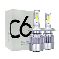 12V 24 Volt Cheap Auto Led H4 9005 9006 Car fan H7 Led Headlight Bulb, C6 Led Light H11 H4 H7 Led