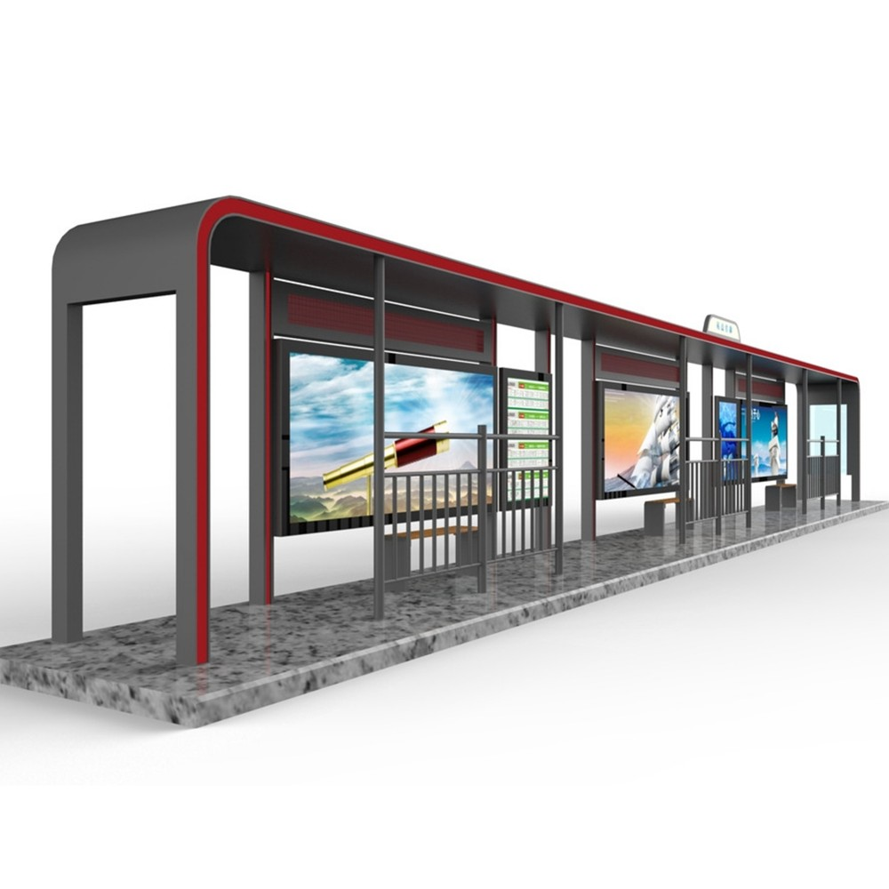 product-Modern Popular Outdoor Advertising Bus Station High Quality Smart Bus Shelter-YEROO-img