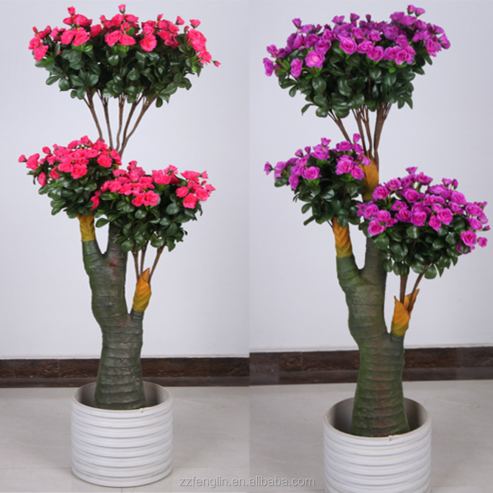 Hot Sale Indoor Artificial Azalea Bonsai Trees For Sale - Buy ...