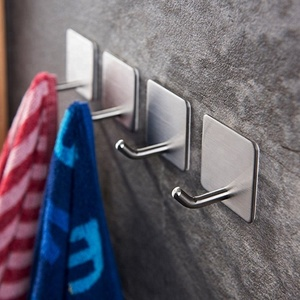 2018 China Supplier Towel Hook with Self Adhesive Stainless Steel