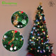 Patio Garden Party Decoration Light 12feet 12bulbs RGB G40 Copper Wire Led String Light Christmas Tree Decoration Light
