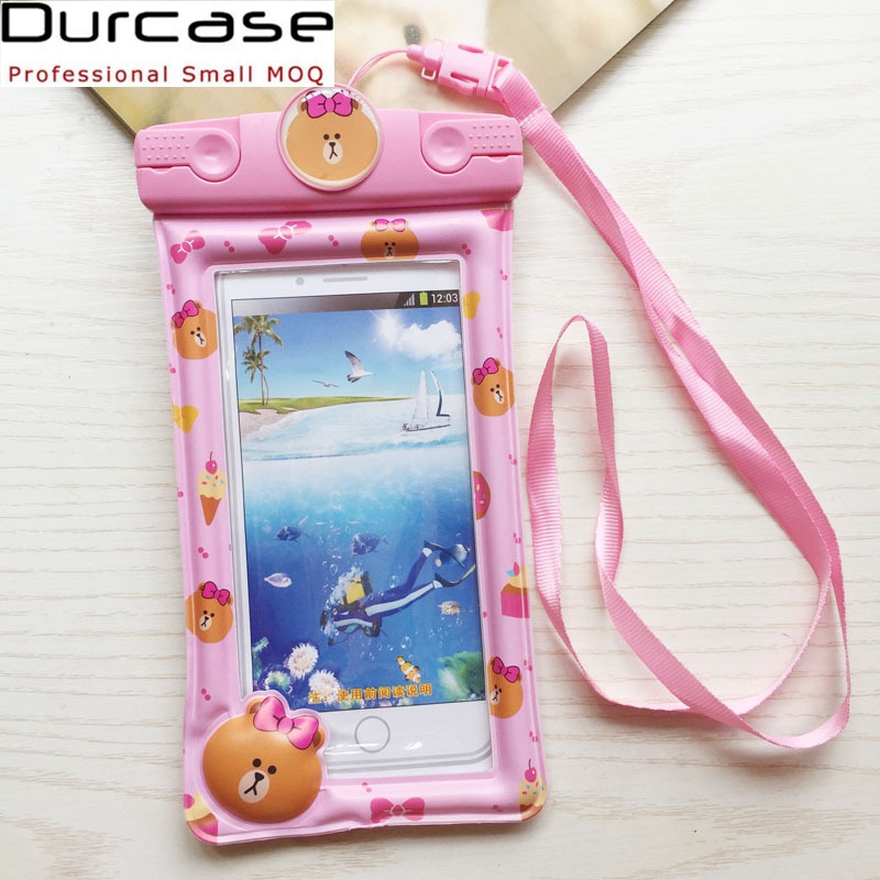 Good Quality Inflatable PVC Material Waterproof Phone Case For Apple iPhones Compatible Brand