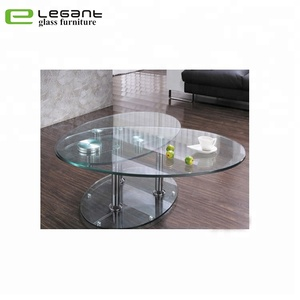Coffee Table Extendable.Extendable Clear Tempered Glass Coffee Table