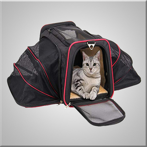 Small Pet Travel Bag Portable Soft Sided Cat Carrier with Two Side Expandable for pets