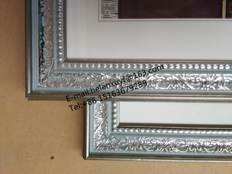 Barato 30x40 cm marrón y plata color montado en la pared marco de ...