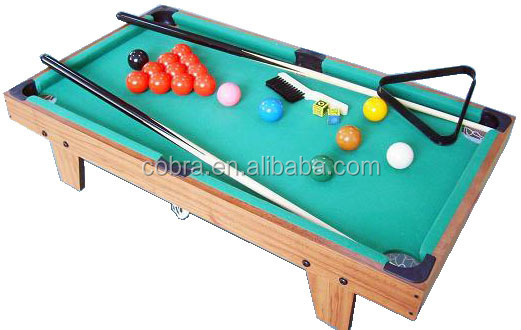 Best selling Kids Mini Billiard Table with Long Legs,Colorful Printed Box Pool  Table for