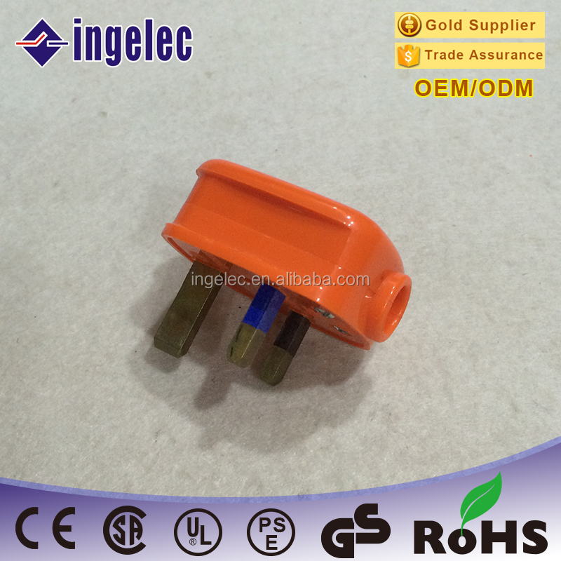 13A electrical plug, Professional Test Moulded And Rewireable 3 flat pin British BS Plugs