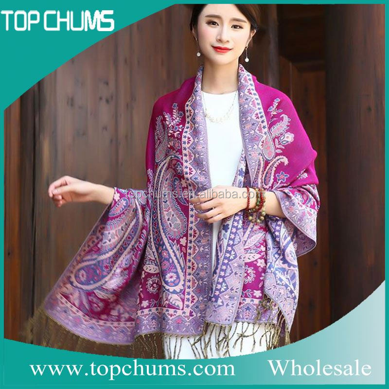 Hot products Hot sale pashmina shawl nepal printed scarf