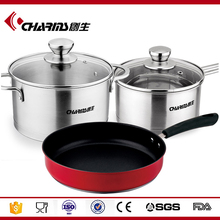 5pcs set stainless steel parini cookware/la sera cookware/prima