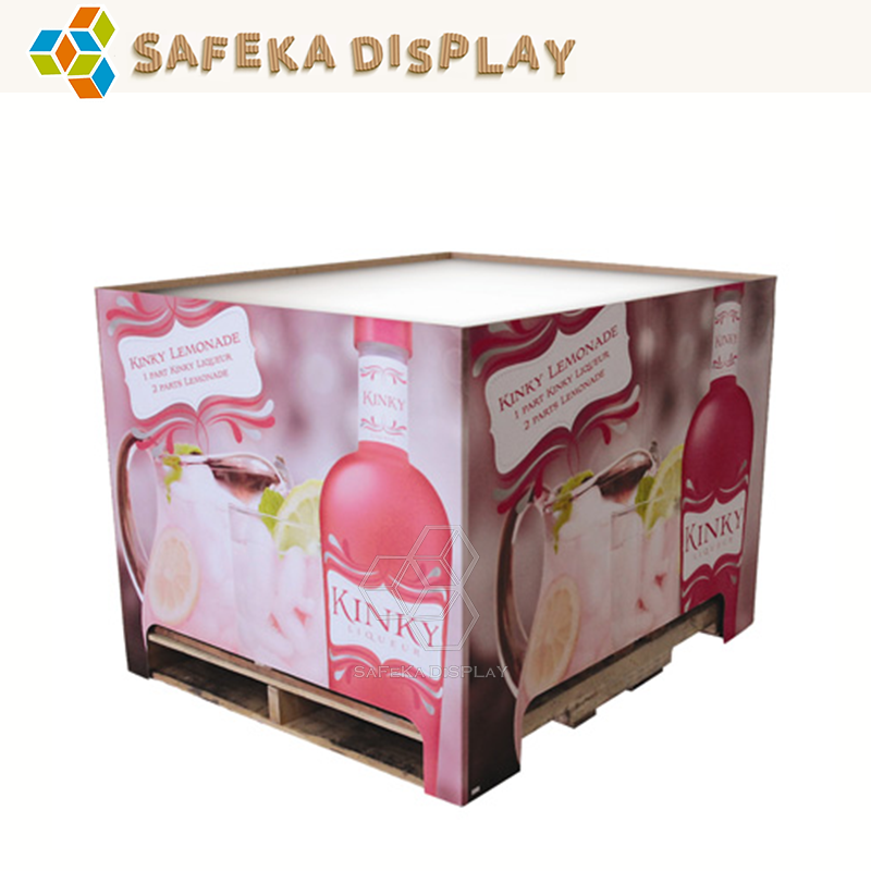 Point of Purchase Collapsible Design Free Standing Carton Wholesale Store Rack Stand full pallet display case for wine