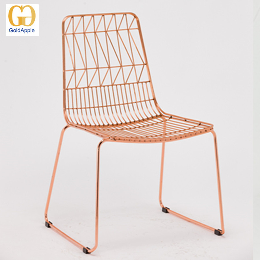 Popular metal replica bertoia wire chair for sale outdoor indoor