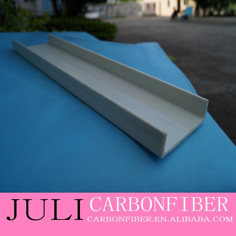 fiberglass channel profile/frp channel for stairs ladder/non-conductive material fiberglass U shape