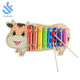 YF-D2118 little cow kids 8 keys xylophone music instrument education toys wooden hand knock piano toys
