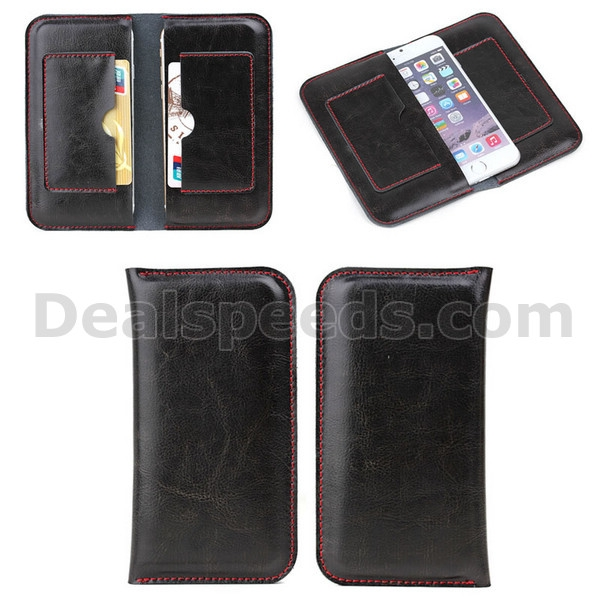4.7 inch Dual Phones Notebook Style Genuine Leather Cover for Smartphones