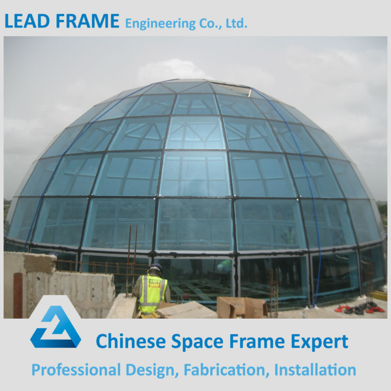 columnless prefab light steel frame structure large domes glass