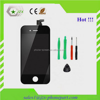 with anti dust mesh for iphone 4s LCD with touch digitizer with front glass with Frame