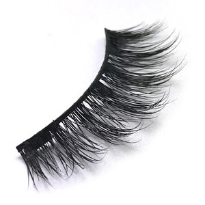 Free Sample Fast Shipping Mink Silk 3D Magnetic Fake Eyelashes With Customize Packaging
