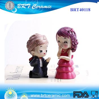 Romantic Propose Design Cartoon Wedding Cake Topper - Buy Cake ...