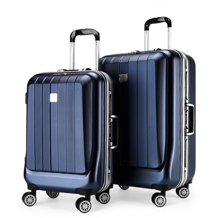 aluminium trolley koffer met laptop compartiment urtralight mode bagage luxe pc trolley bagage. Black Bedroom Furniture Sets. Home Design Ideas