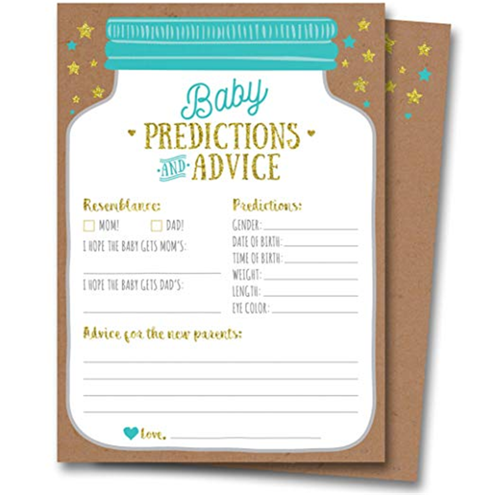 Personalised Baby Shower GamesPrediction /& Advice Cards for New Mum To Be