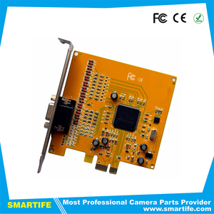 8CH real time palyback 704x576 HD PCI-e video capture card founder-proof