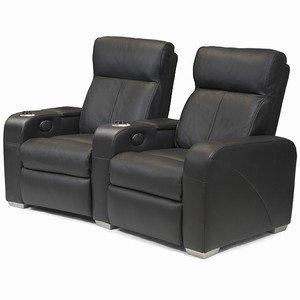 Home cinema asientos de te negro de cuero mobiliario de - Sillon home cinema ...