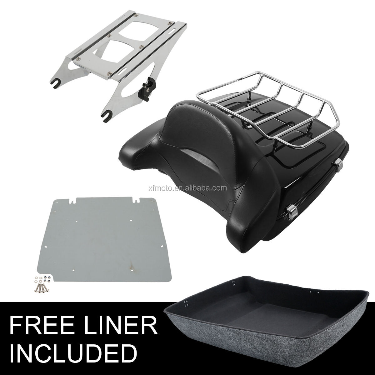 TCMT XF111547-05 Tour Pak Trunk Luggage Rack Backrest For Road King Street Glide 2014-2018