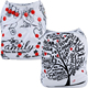 Mumsbest Pocket Baby Cloth Diapers Unisex White Family Tree Baby Puzzle Nappies