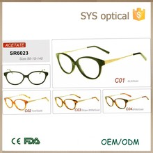 Charm round_shape art style eye glasses frames with mosaic in temple