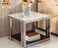 Modern 5 colours top natural marble tea table for living room